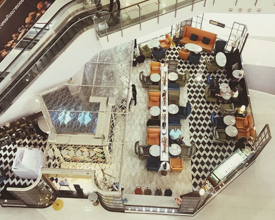 Indoors  Teashop Topview High Angle View Department Store City Life Relax Lonely Human Lifestyles Flying High Flying High
