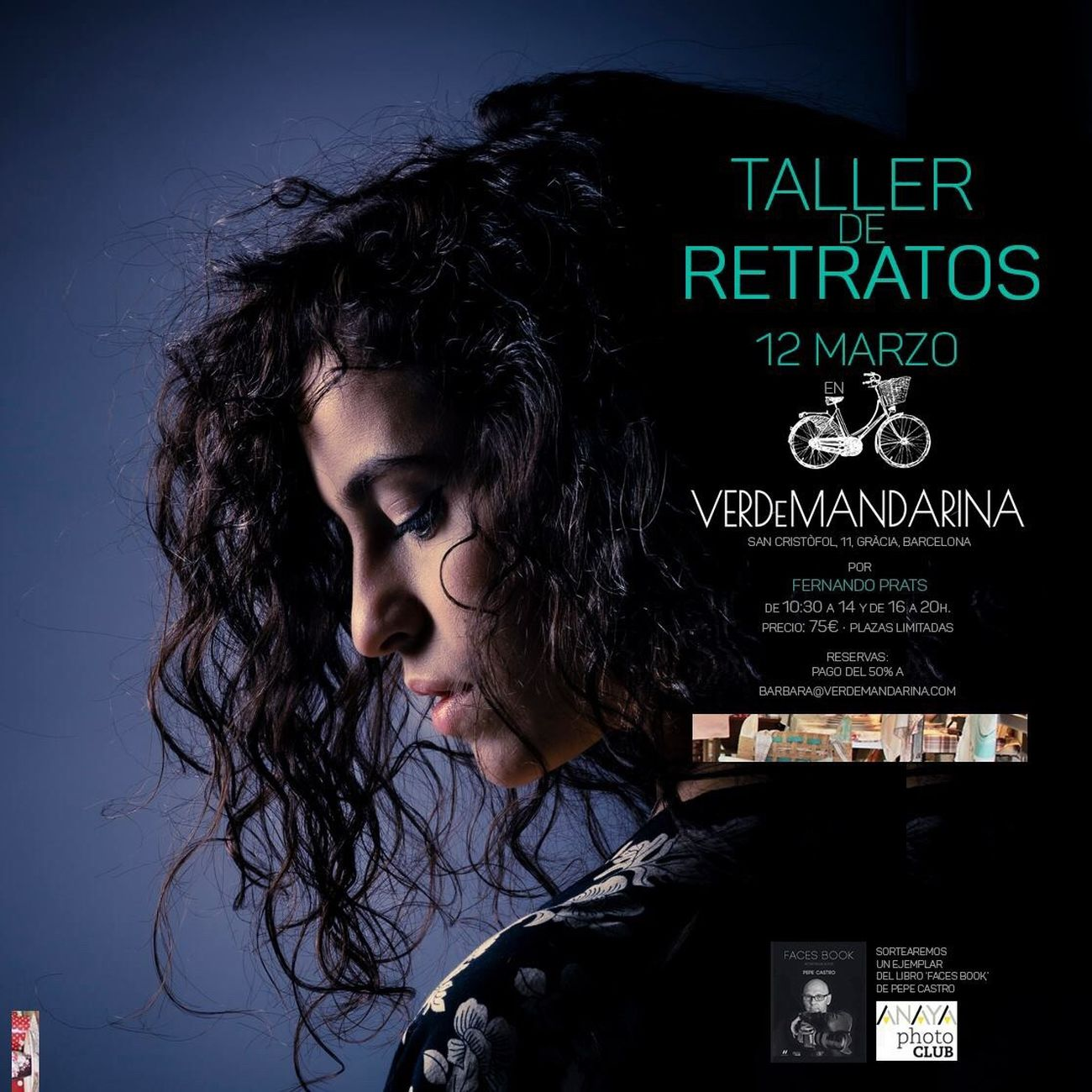 Portrait Photography Workshop • Taller de Retratos: 12/03/2016, VerdeMandarina (Gràcia, BCN) Portraits Workshop Barcelona