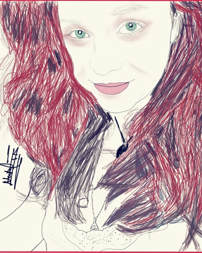 Just you order and we obey. . . Be Beauty, Happy and forever Young Scketchbook Drawing Pencil Portrait Coloredhair