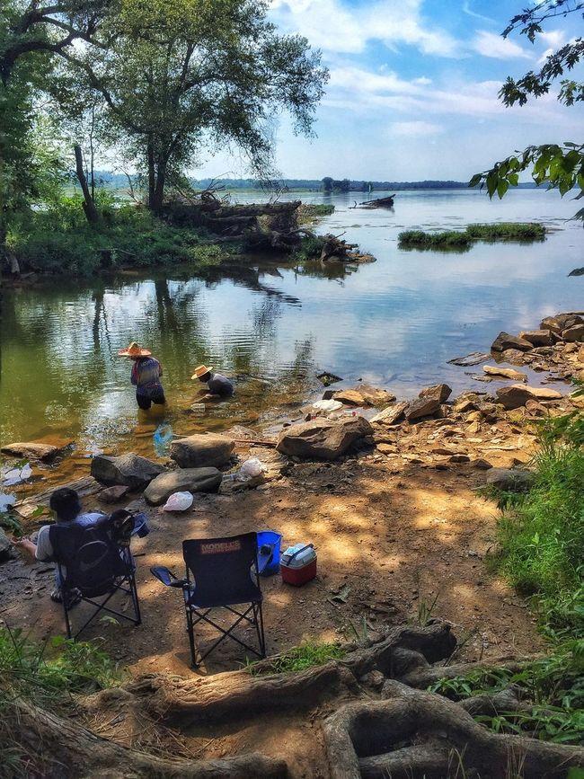 Snagging crawdads Crawdad Catching Crawdads Catching Crayfish Potomac River Rocky Stream C&o Canal Summer Summer Views
