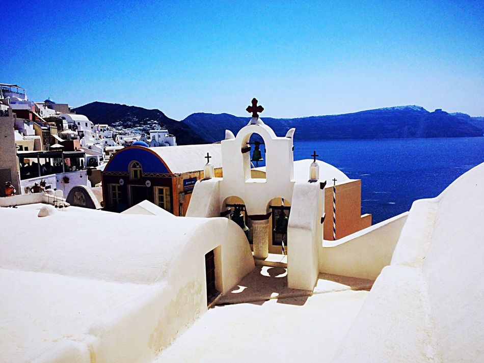 Santorini 2 White Color Religion Outdoors Architecture Travel Destinations Sea Building Exterior Nature Sky Clear Sky Beauty In Nature