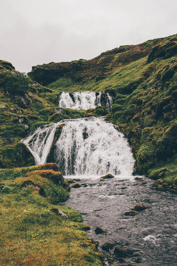 Europe Exploring Geology Iceland Moss Nature Non-urban Scene Outdoor Outdoors Physical Geography Scenics Tranquil Scene Travel Traveling Water Waterfall