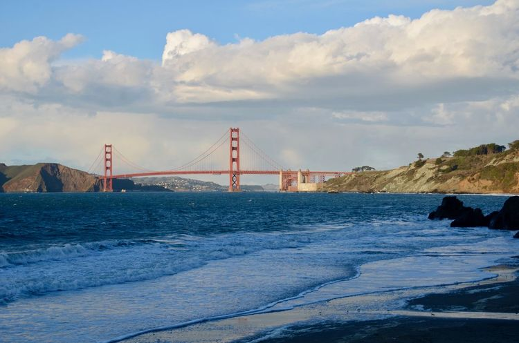 Architecture Bay Of Water Bridge - Man Made Structure Built Structure Connection No People Outdoors San Francisco Bay San Francisco Bay Bridge Scenics Sea Sky Suspension Bridge Transportation Travel Travel Destinations Water