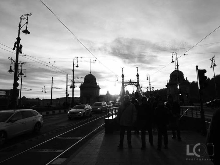 The City Light Mode Of Transport Transportation Travel Sky Cable Cloud - Sky Land Vehicle Outdoors Day Cold Temperature Shadow Road The Way Forward People Station City Station Black And White Traffic Budapest, Hungary Budapest Budapestarchitecture Budapest Streetphotography Budapestview