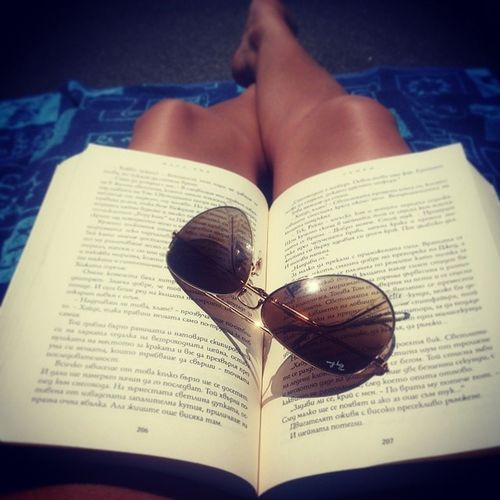 ^_^ =] Sunglasses Book Beach Sunmmer
