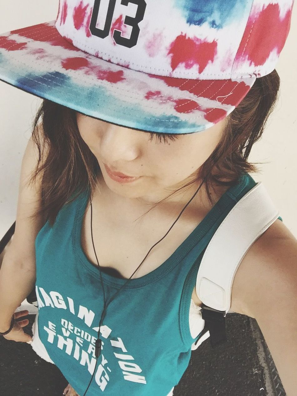 Outfit OOTD♥ Code That's Me! Adidas Cap Summer Outfit Summer ☀ ギャップ テーマは夏休み
