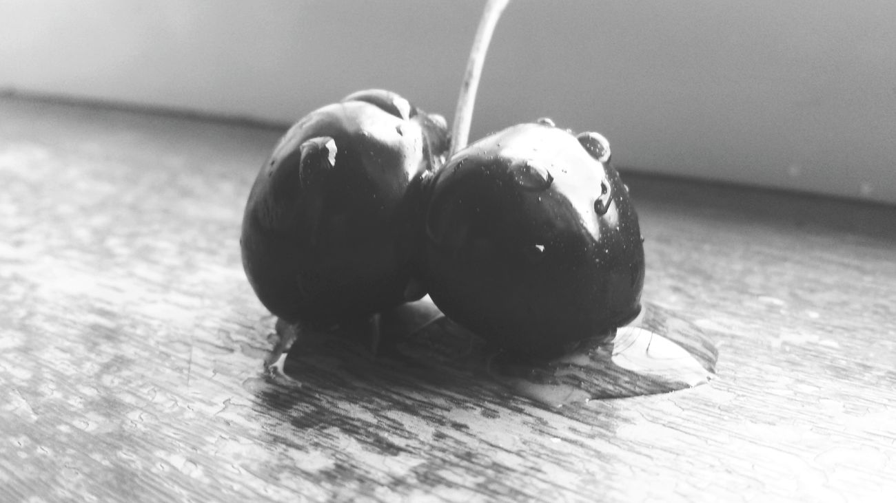 Cherries🍒 Fruit Healthy Eating Black & White Drops