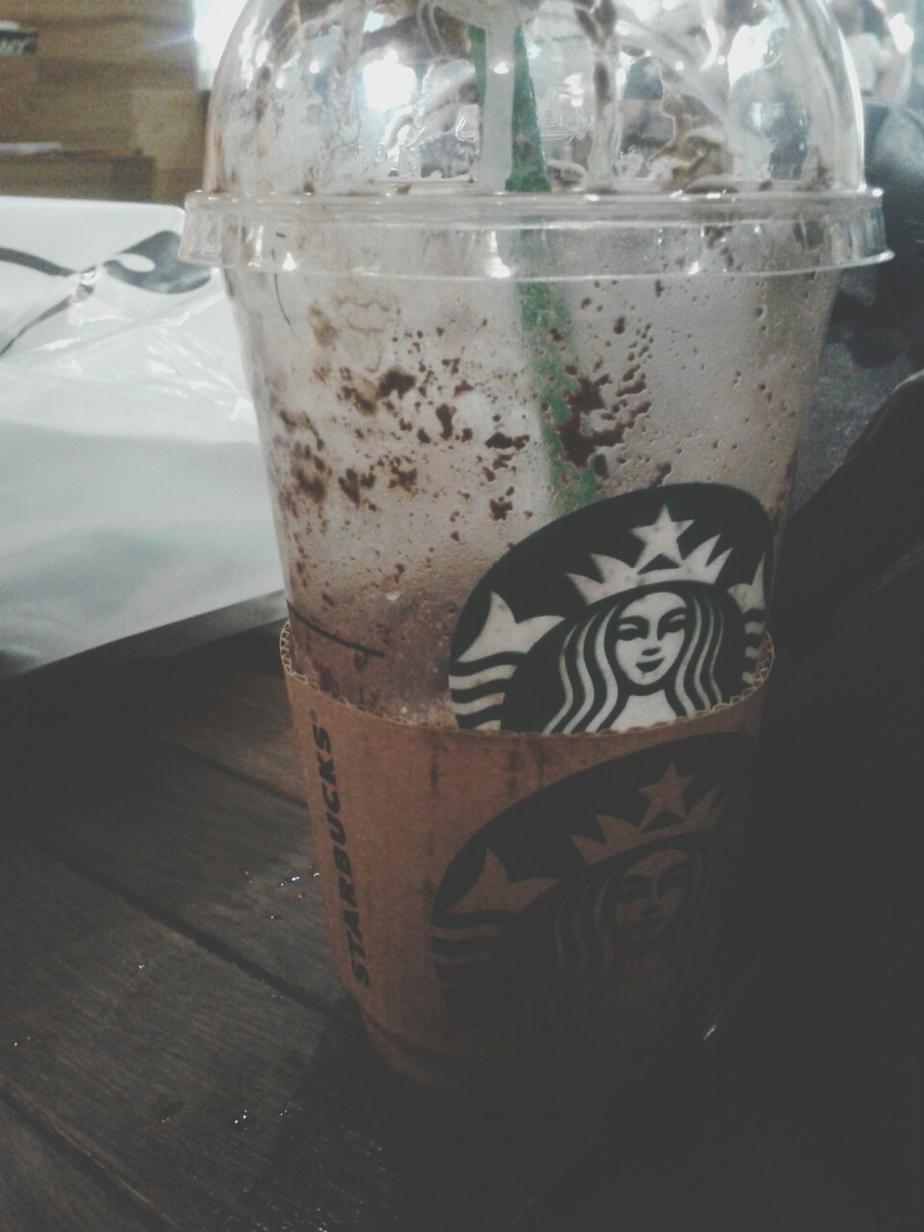 Drinking Starbucks Starbucks Hi! Happy