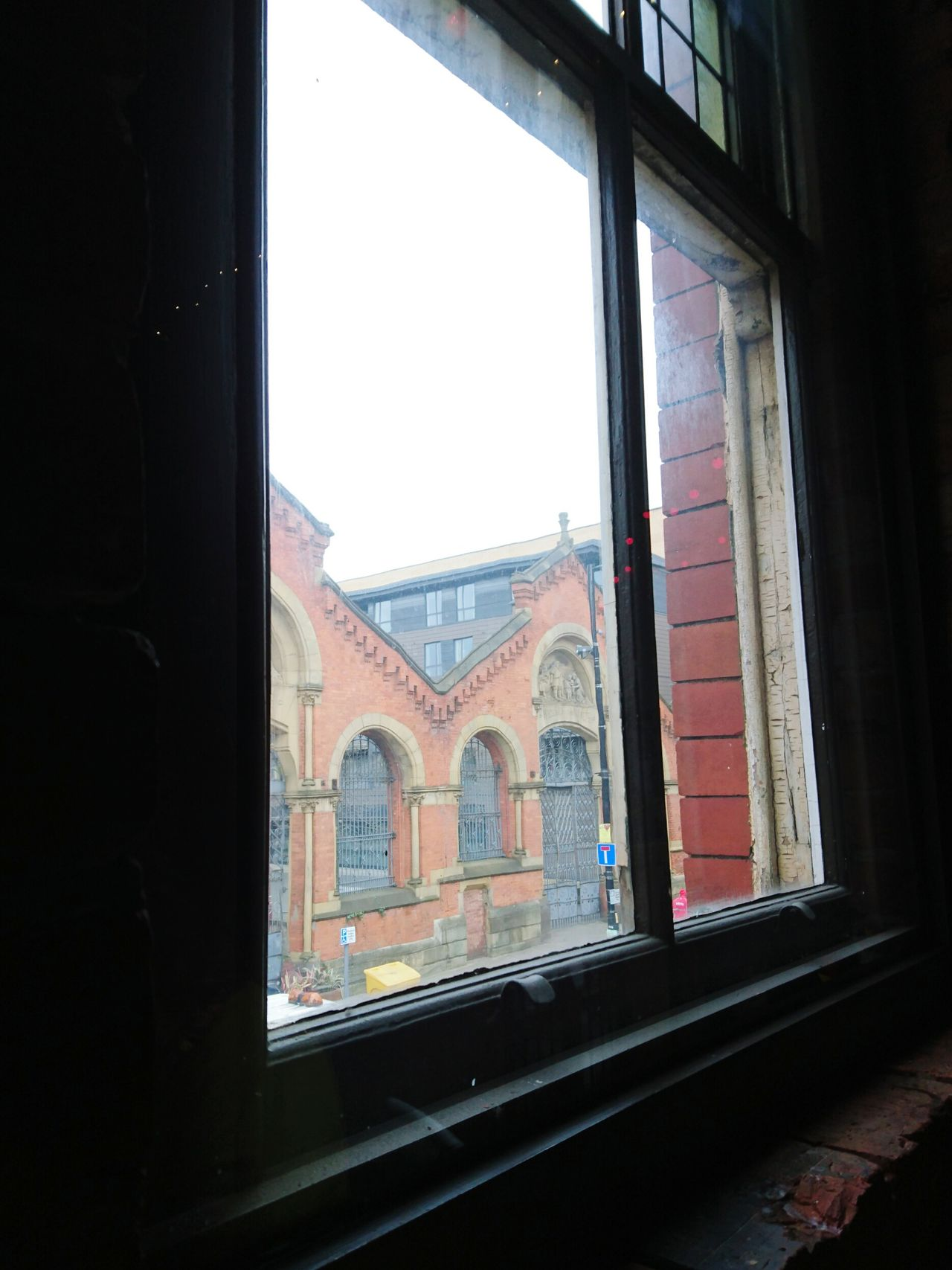 Window To The World City Street Pane Windowsill At Burrito Heaven in Manchester.