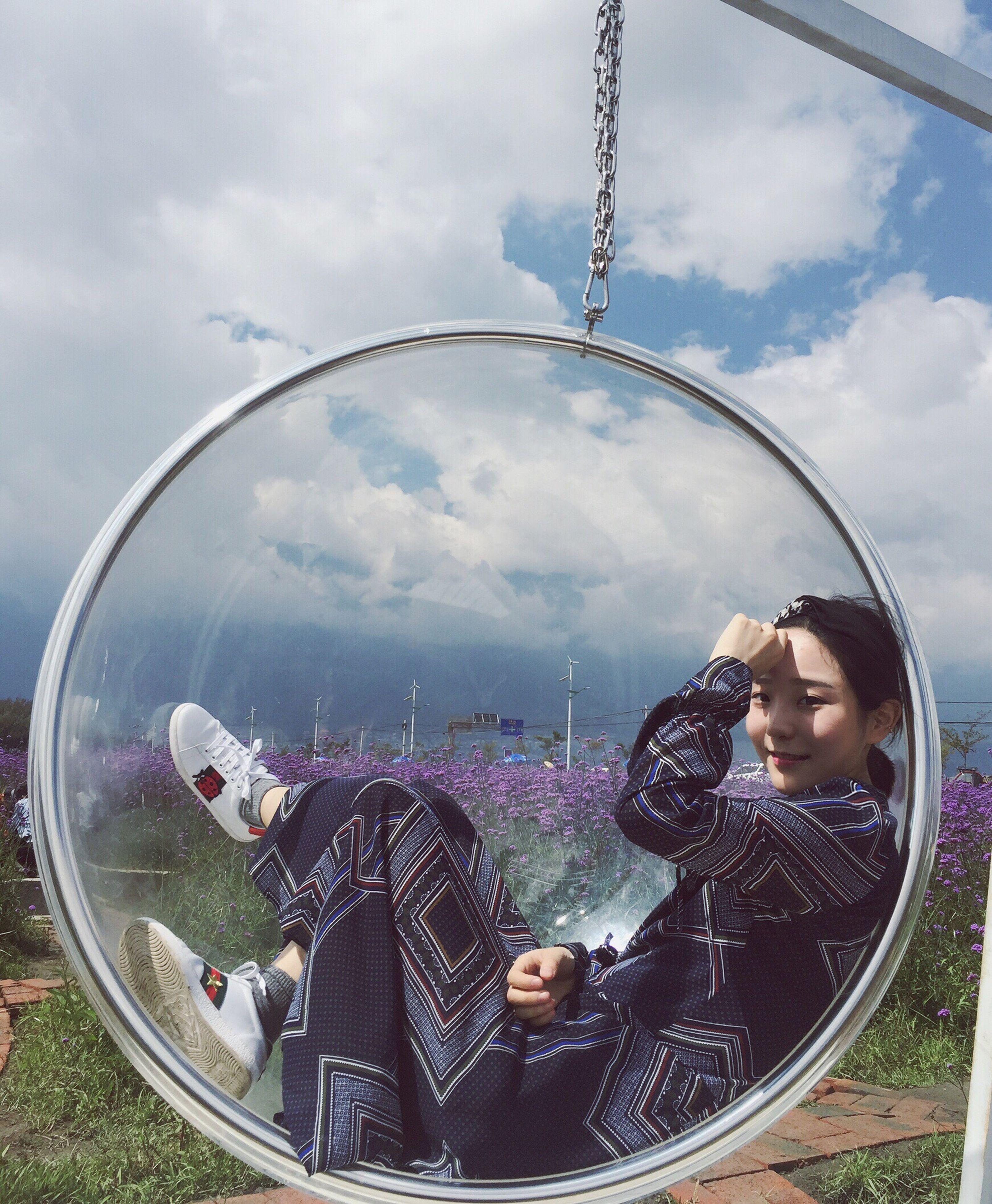 leisure activity, lifestyles, sky, cloud - sky, friendship, day, person, nature, tourism