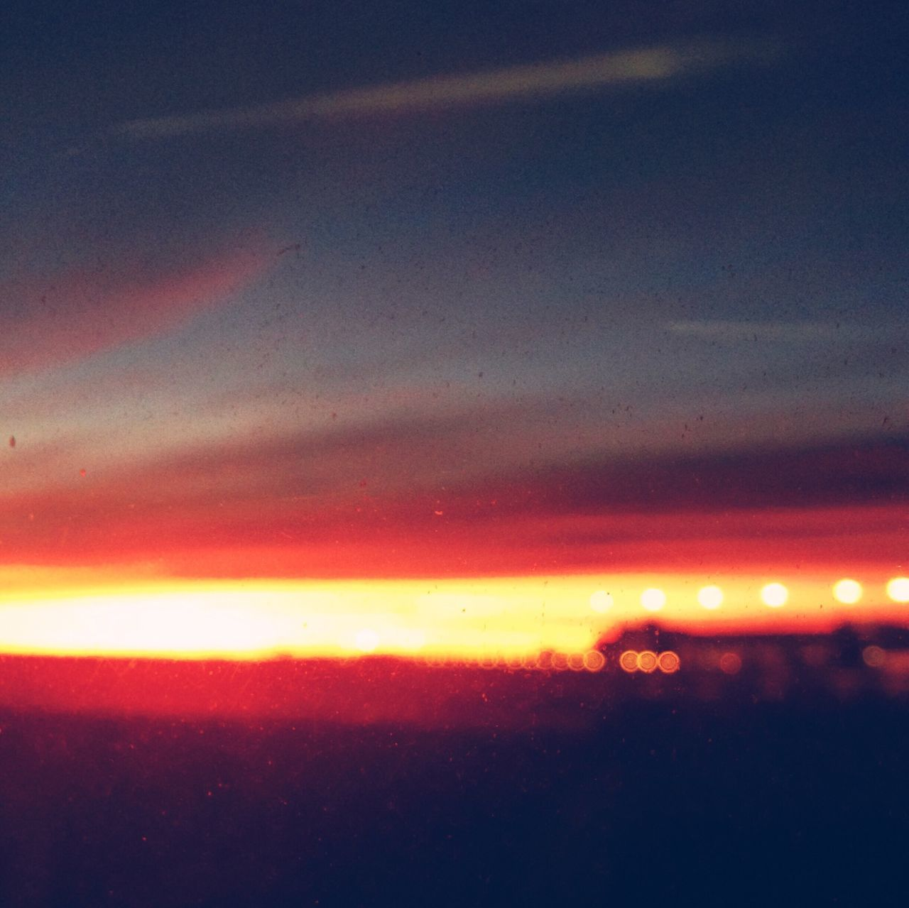 Flight Bokeh Sunset Airport