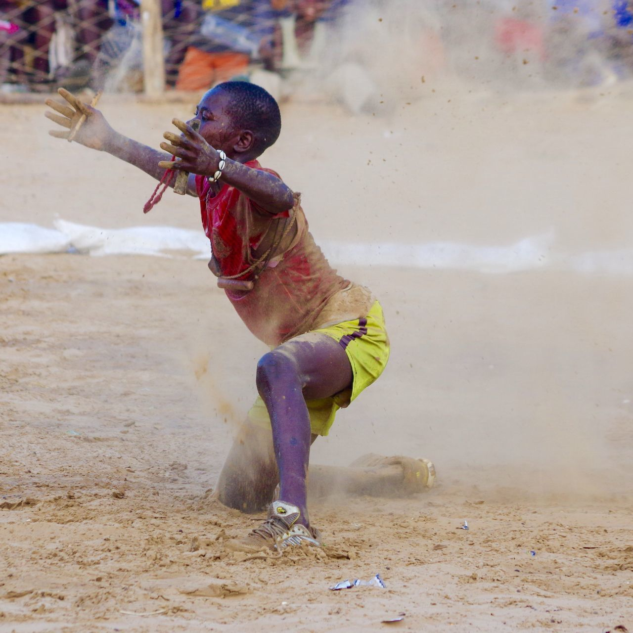 The Photojournalist - 2017 EyeEm Awards The Wrestling competition. One of the latest Animist events in Senegal . Here a young wrestler performs a Ritual Dance to influence his fight.