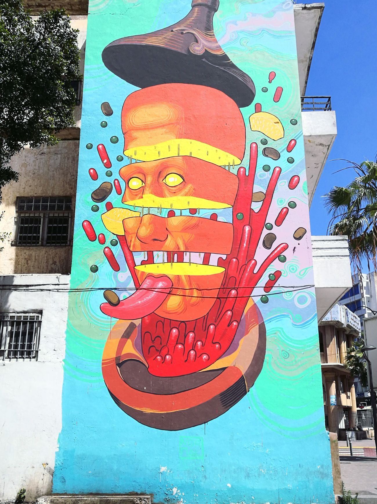 Street art in Casablanca Outdoors No People Colors Graffiti Hello World Day