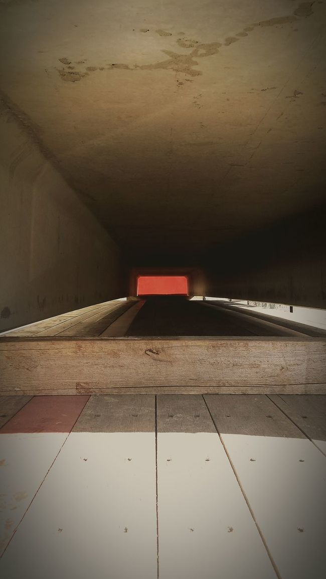 Red light at the end of the tunnel Working Light And Shadow Geometric Shapes Observing Urban Filter 4 Enjoying The View Taking Photos Depth Of Field Cement Red