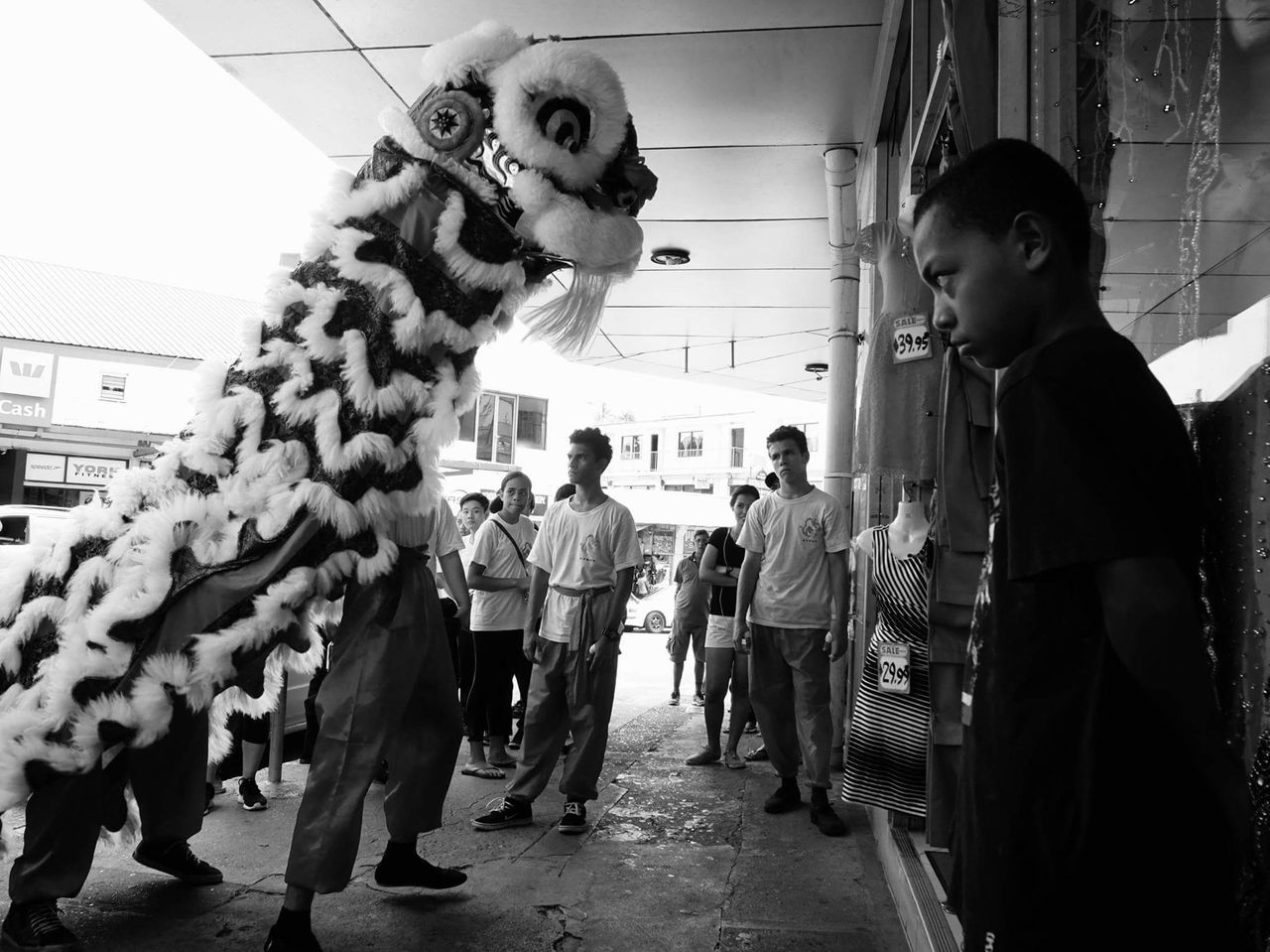 Adapted To The City People Teamwork Chinese New Year SUVA FIJI ISLANDS Streetphotography Blackandwhite Black & White Street Photography
