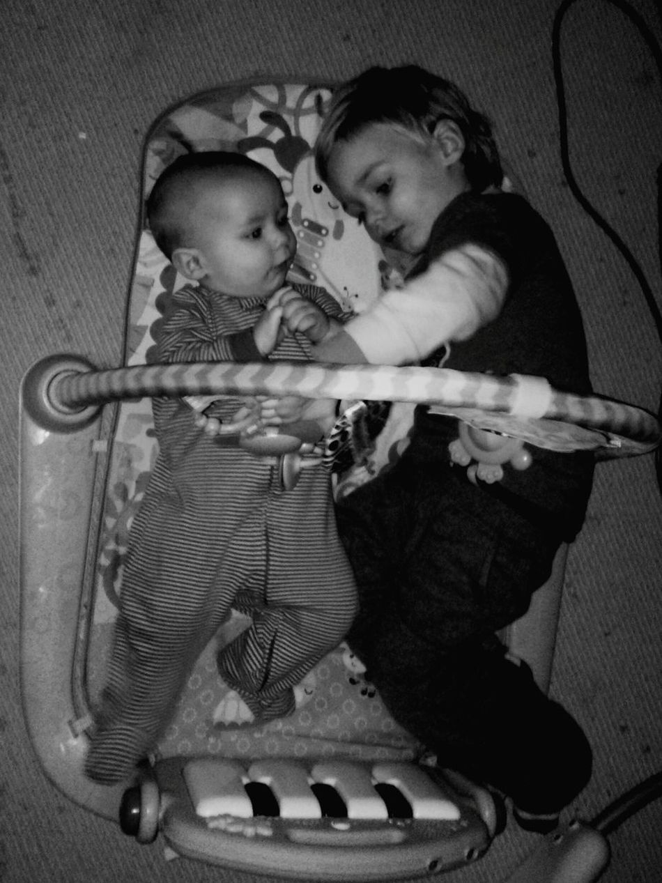 Brotherly Love Playing Precious Moments Heart Warming ??????