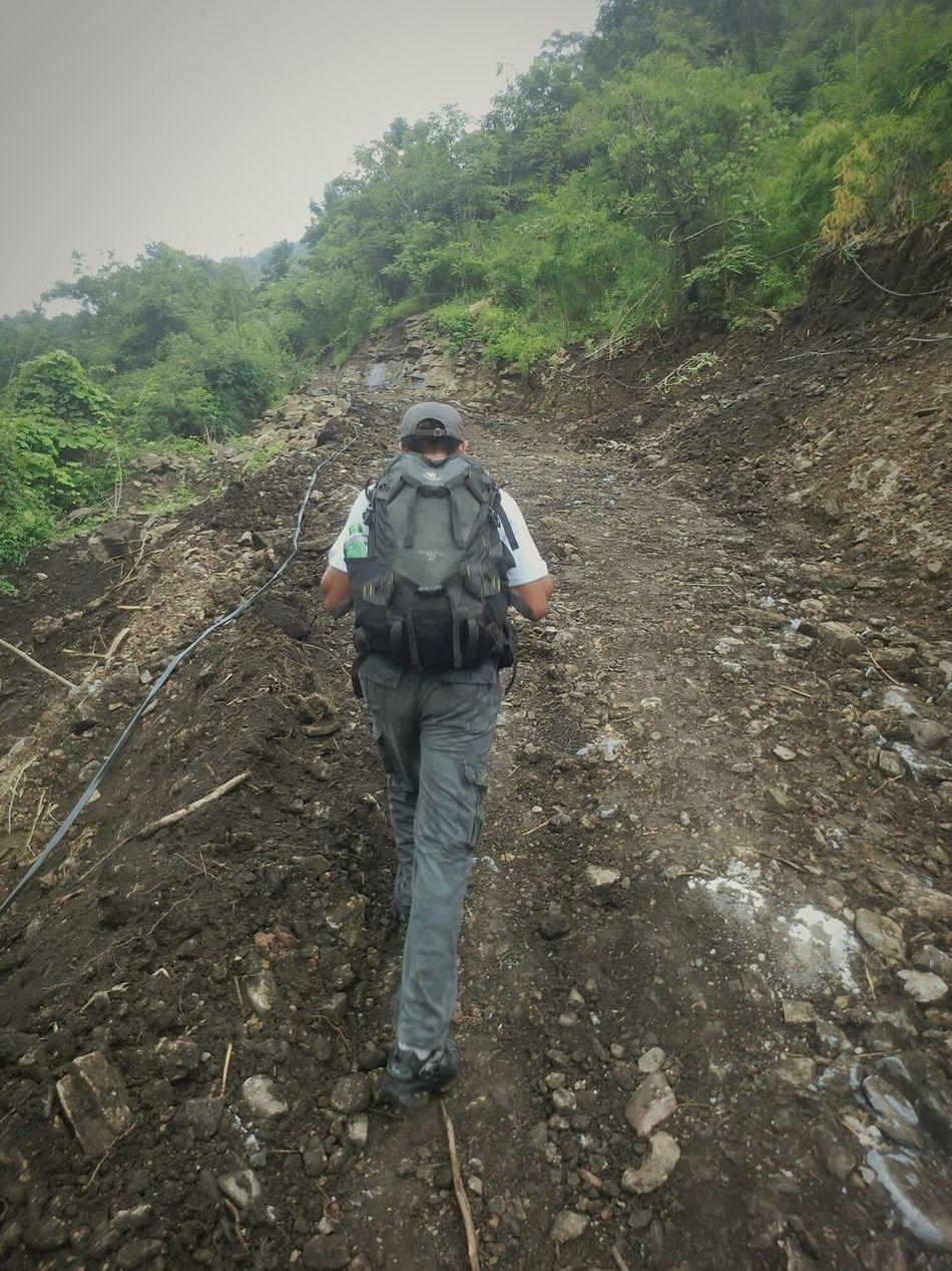 Hello World Trekking Travel Photography Hiking Climb Up Mandalay Myanmar