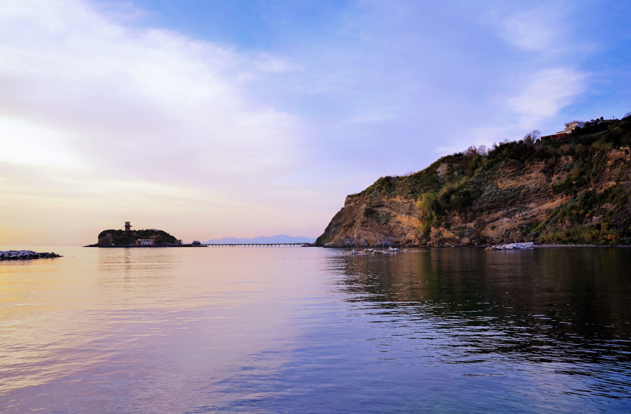 sky, sea, nature, tranquility, tranquil scene, scenics, water, cloud - sky, beauty in nature, outdoors, no people, day