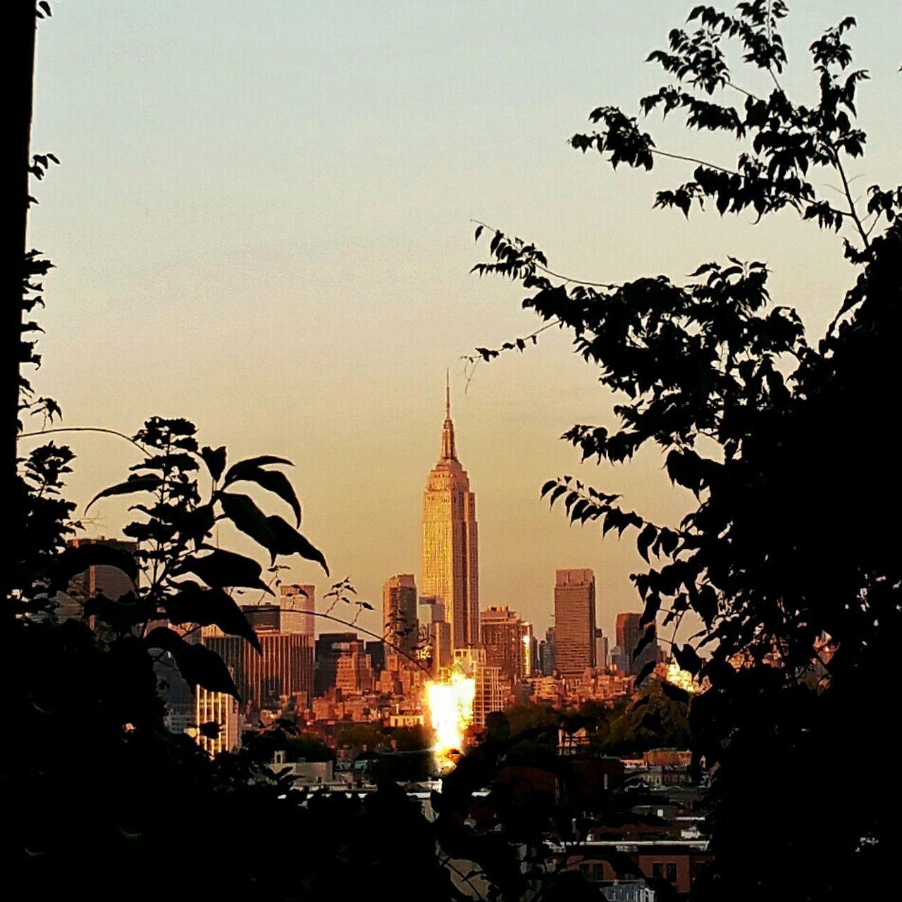 Glitch Glare Sun Glare Sunset Lift Off Rocketship Empire State Building NYC Skyline