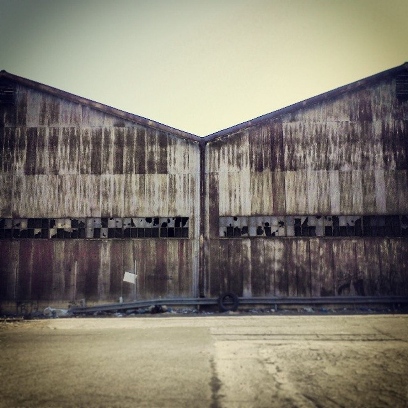 Nobody Home! Old Abandonedwarehouse Abandoned Warehouse rust brokenwindows symmetry losangeles LA