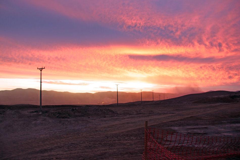 Atardecer Chile Desierto De Atacama Mina Mining Sol Sunset_collection