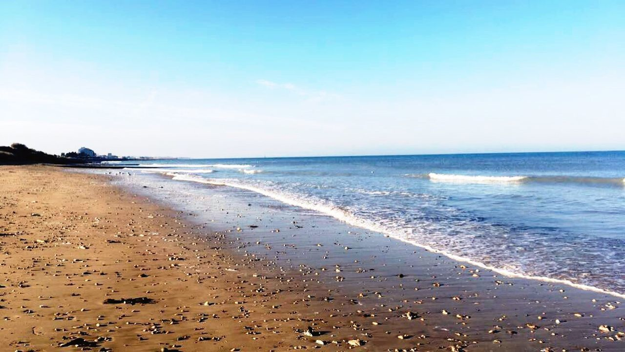 Hey guys, add me on Instragram @cro.manon 😘 Beach Sea Peaceful Beautifulplace Takeawalk  Instagram Eyeem_naturelovers Nature Winter Love Sand Horizon Over Water Clear Sky Wave Beauty In Nature No People Goodtime Home Normandy France Life Is A Beach Beach Please