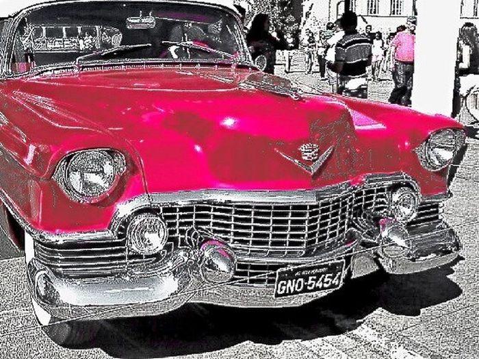 Classic Car Taking Photos Streetphotography Vintage A 1954 Cadillac Eldorado two door Convertible Coupé.