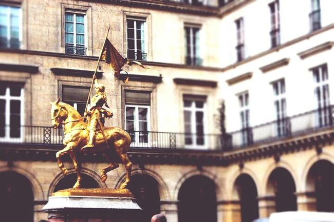 The Human Condition Paris, France  Spirituality Joan Of Arc Portrayal Humans Portraying Humans Old And New Society Beautiful People Saint killed for her beliefs, now a patron saint