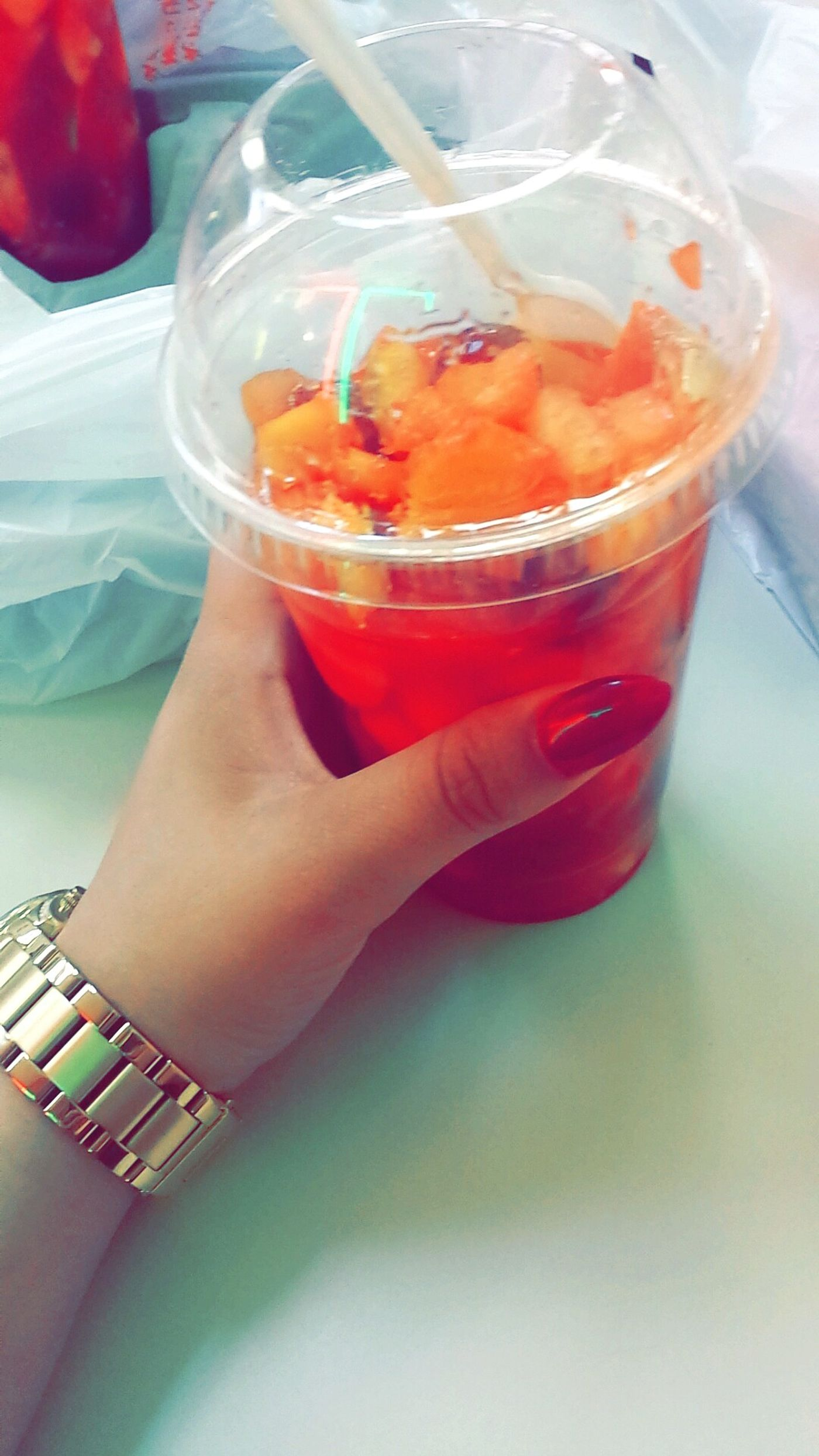 whos ever had one of these fuckers !! thier fucken delicious must have in the summer Escamocha ? filled with fruit all different fruit and chile ;o ?? A Must Try Food Summer