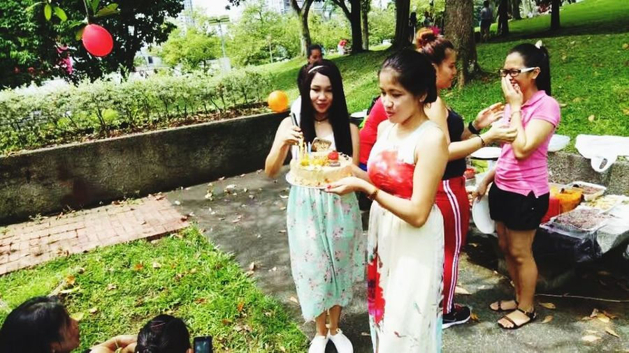 Birthday Party Togetherness Outdoors Young Adult Smiling Day Young Women Happiness Friendship Adult Beauty Only Women Adults Only