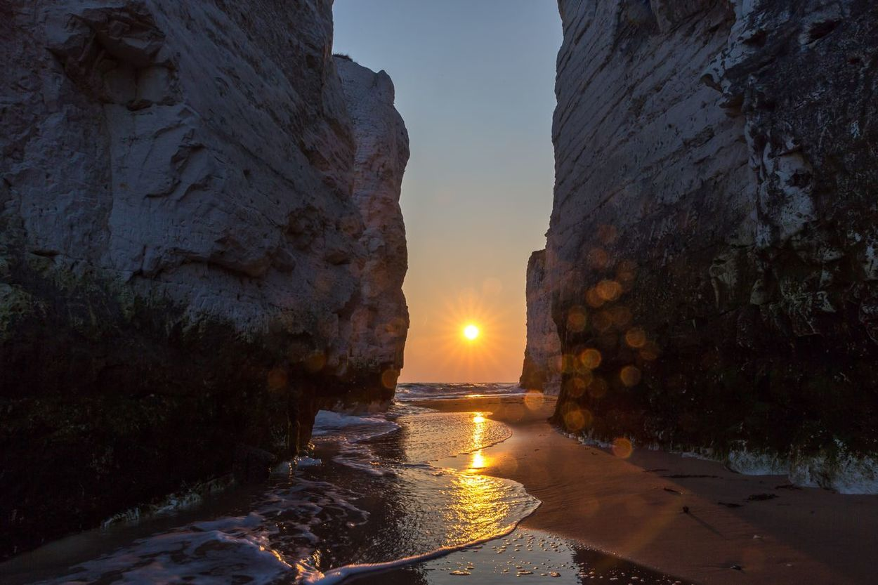 Showing Imperfection Water On Lens Dirt Seascape Seaside Sunrise Botany Bay East Coast Sunrise_Collection Cliffside Beach Water