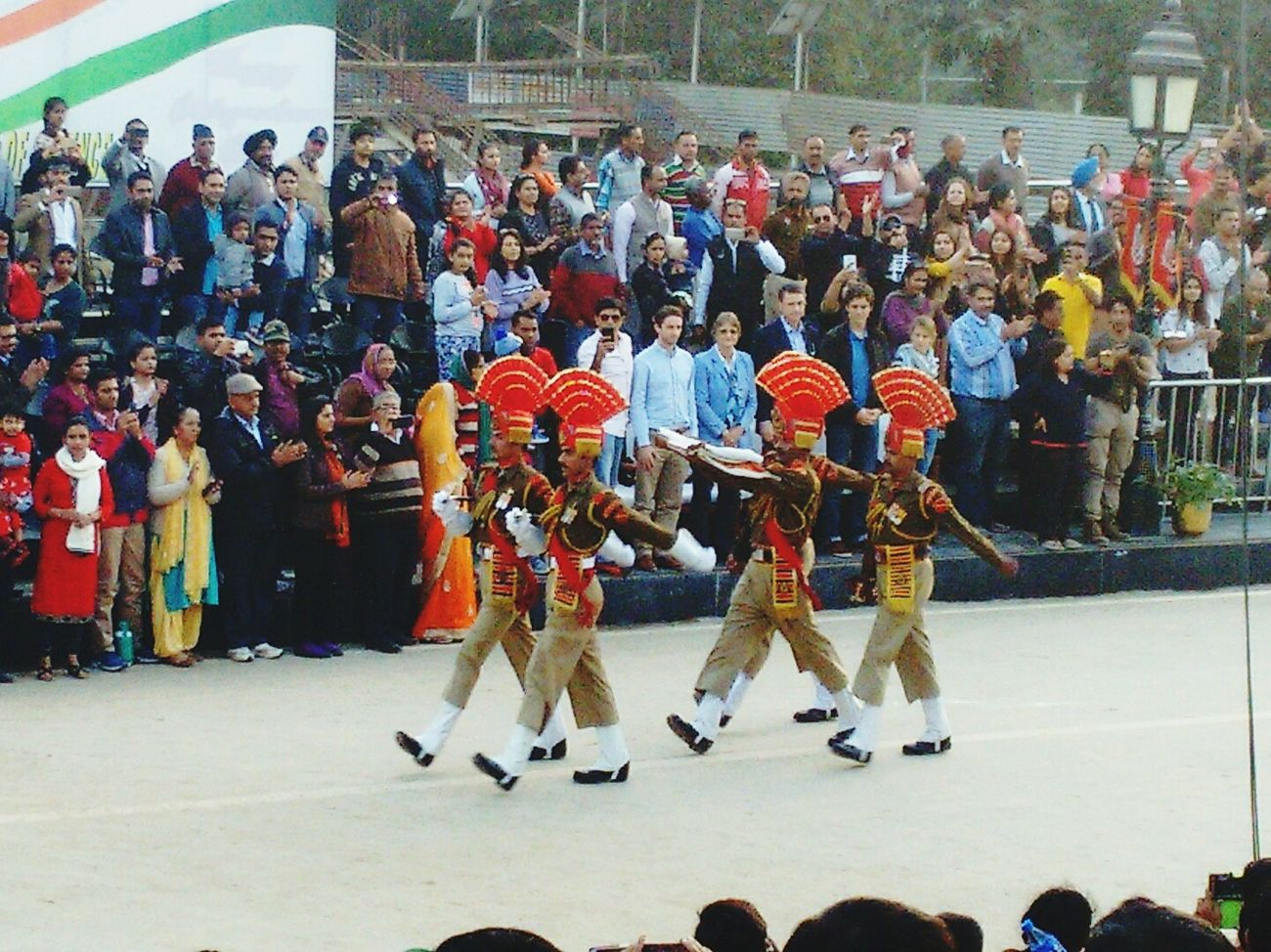Wagha Border Atari Border Amritsar Parede