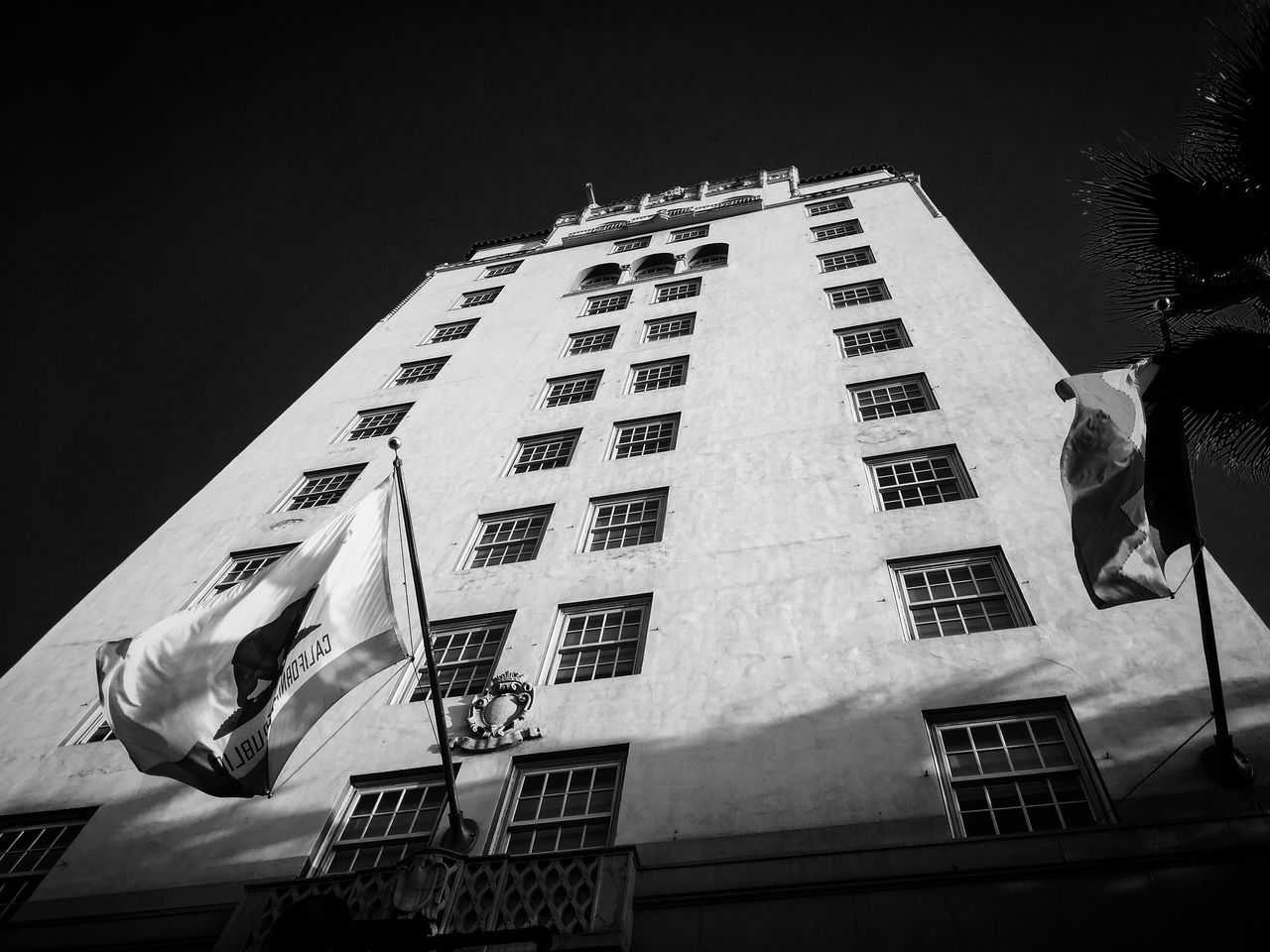 Roosevelt Hotel / Hollywood, California Architecture Archival Building Exterior Built Structure City Film Noir Hollywood Hollywood Boulevard Hotel Low Angle View Monochrome No People Outdoors Roosevelt Hotel, Los Angeles Sky