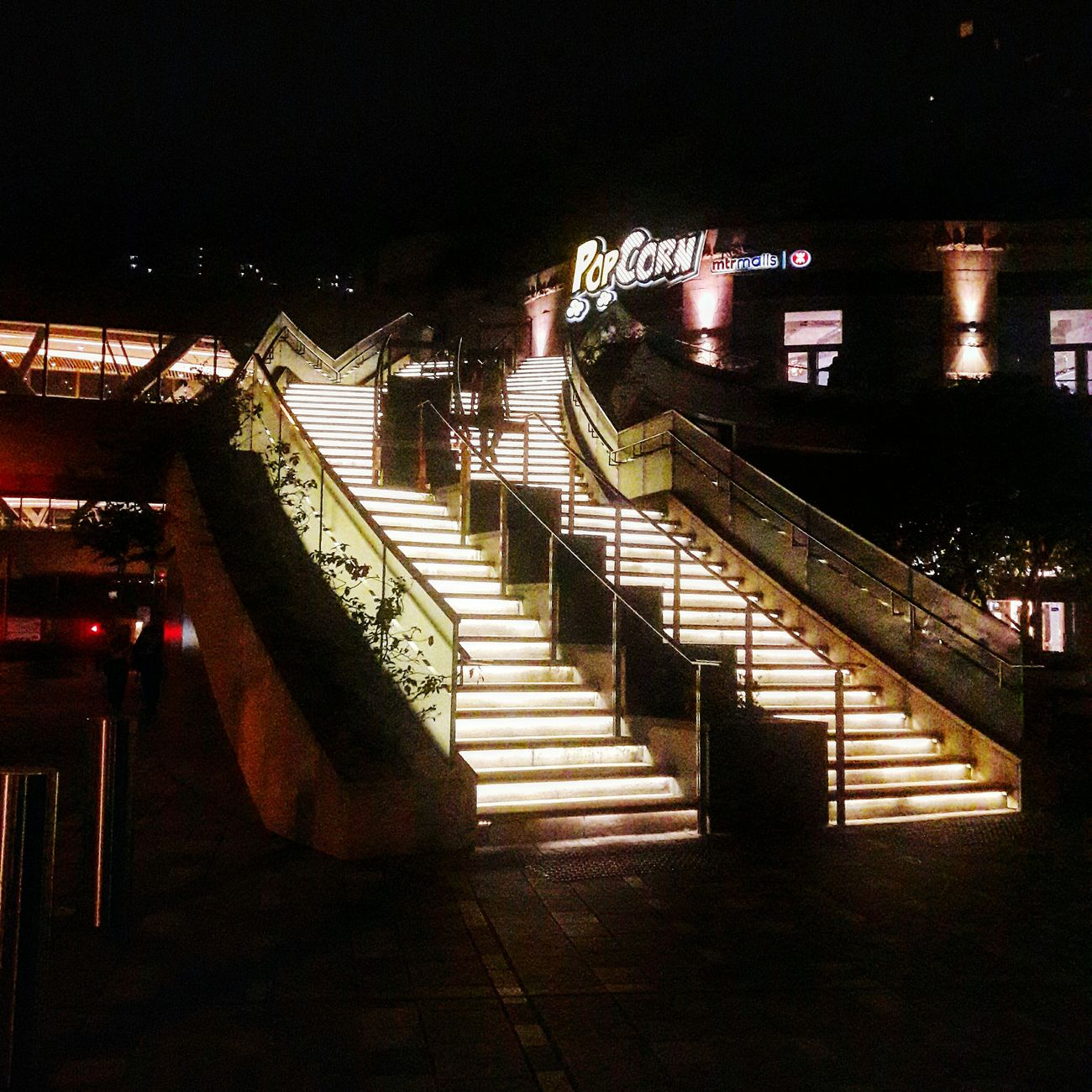 Tseung Kwan O Night High Angle View Railing Steps Staircase Illuminated Steps And Staircases No People City Cityscape Architecture Outdoor Photography
