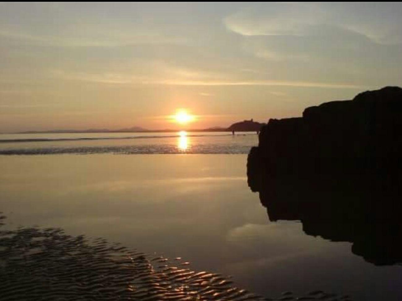 Blackrock sands Blackrock Wales Beach Beachphotography Sunset Silhouettes Sunset Castle Sand Water Reflection