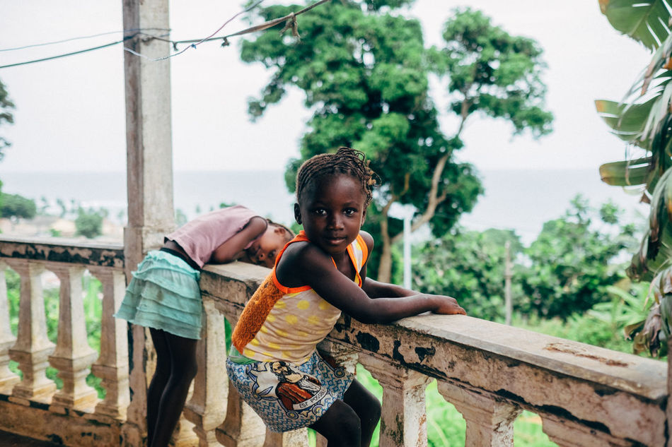 Africa Africa Day To Day African Beauty Balcony Childhood Island Leisure Activity Nature Real People Sao Tome Sky Tree