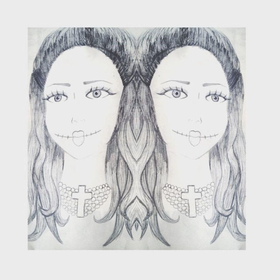 Novo desenho . Mulher dos cabelos bonitos . Me de eles