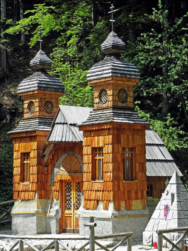 Russian chapel 1917.,built by russian prisoners of war during 1st World war,Vrsic,Slovenia,4 1917. 1st World War Architecture Chapel Church Eu History In Memoriam Memory Prisoners Of War Religion Russian Russian Chapel Slovenia Vrsic Wooden Facade