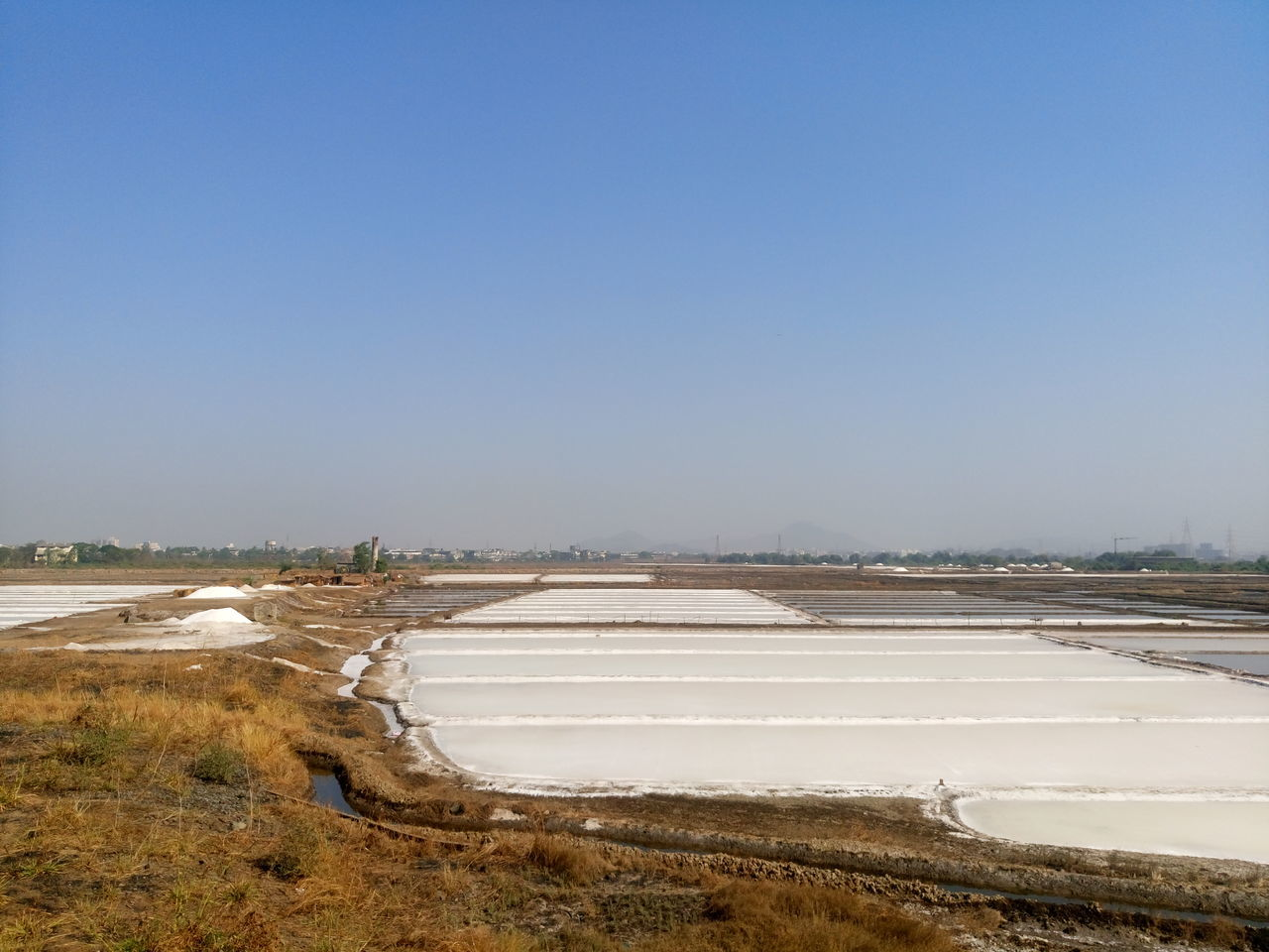Beauty In Nature Clear Sky Day Nature No People Outdoors Salt - Mineral Salt Basin Salt Flat Water