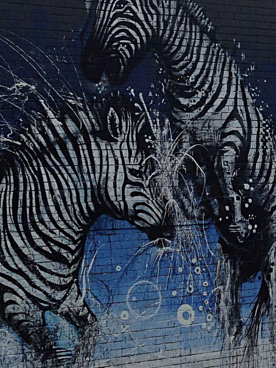 Street Art mural detail by Makatron