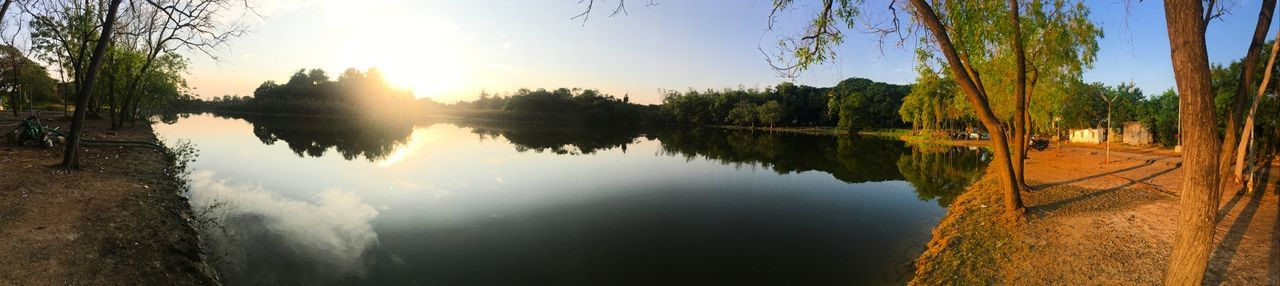 Shot with iPhone 6s Plus... Pond Reflection Nature Sky Outdoors Landscape Tourism Travel Water Lake Sun No People Beauty In Nature Reflection Lake Sunset Natural Parkland Scenics Hello World Mobile Photography Taking Photos Check This Out Vibrant Color Manasarovar Panaroma Photography Panaromic Photos