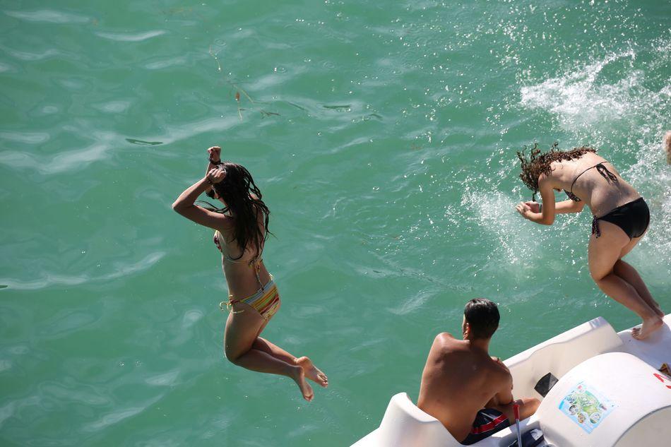 Beautiful stock photos of action, Bikini, Day, Diving Into Water, Enjoyment