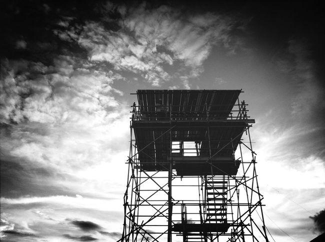 Working Taking Photos Blackandwhite Sky