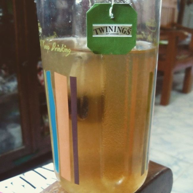 Infused green tea water with lime. Great substitute for plain water. ;) Calorieburner Fitness HealthTips