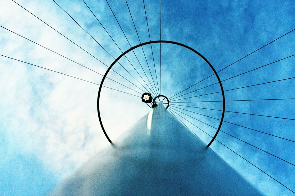 Low Angle View Cloud - Sky No People Sky Outdoors Day Close-up Lookingup Citylifearchitecture Design Outdoor Photography Outdoors Photography Pole Center Focus Centerpoint Centered Composition Blue Sky And Clouds White