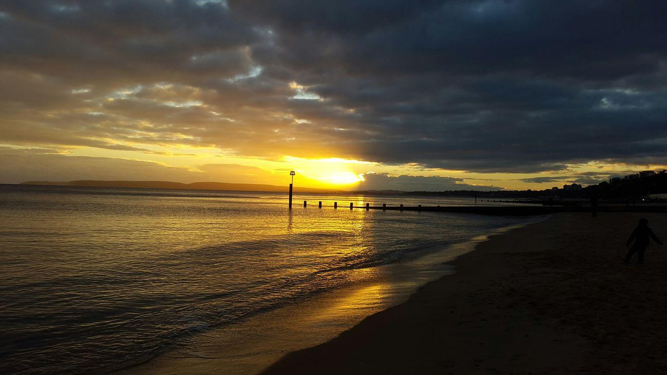 Sunday sunset Sunset Boscombe Pier  Bournemouth Beach Atlantic Ocean November Autumn