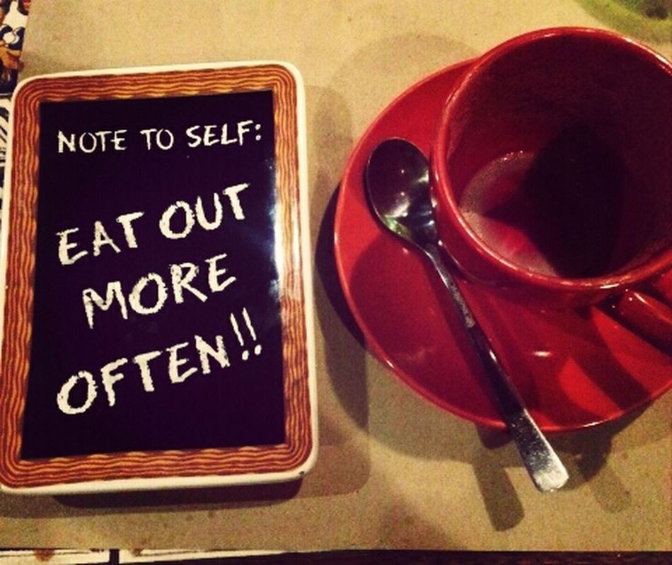 a cute note from my newly discovered restaurant. :) Coffee Time Cutesaying Foodie Something Cute