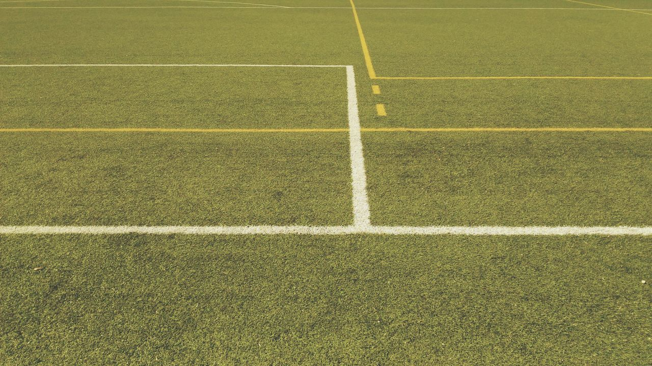 EyeEm Selects Sport Green Color Grass Playing Field Soccer Field No People High Angle View Day Full Frame Soccer Outdoors Backgrounds Close-up