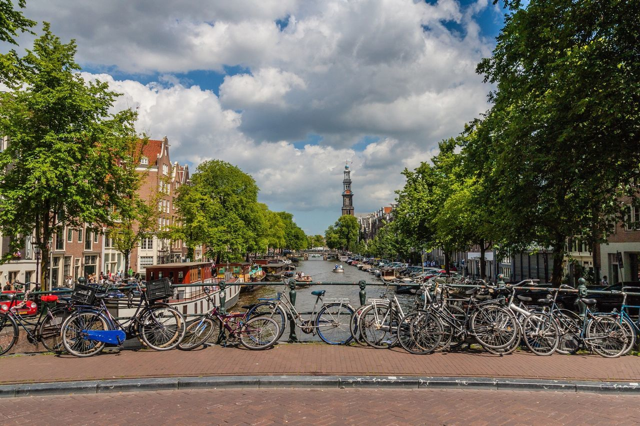 Beautiful stock photos of amsterdam, Architecture, Bicycle, Building Exterior, Built Structure