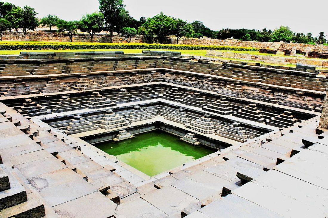 The step well at Hampi India Day Diminishing Perspective Medieval Architecture Step Well The Architect - 2016 EyeEm Awards Tourism Travel Destinations Travel Photography Water_collection